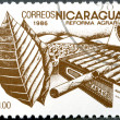 Stock Photo: NICARAGU- 1986: shows image of agrarireform, Tobacco