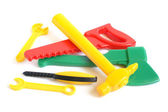 Assorted plastic toy tools — Stock Photo