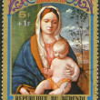 BURUNDI - 1973: shows Virgin and Child by Giovanni Bellini, seri — Stock Photo