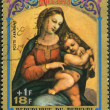 BURUNDI - 1973: shows Virgin and Child by Raphael, series Christ — Stock Photo