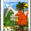 HUNGARY - 1990: shows Dinosaurs Reading Book, International Lite — Stock Photo