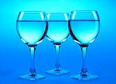Wine glasses.Shallow DOF — Stock Photo