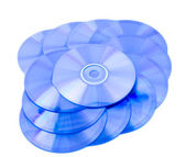 Colorful compact discs — Stock Photo