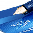 Credit card and pen — Stock Photo