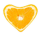 Orange heart — Stock Photo