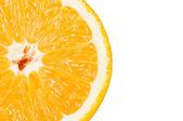 Closeup of orange, isolated on white. — Stock Photo