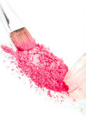 Pink eye shadow on white background — Стоковое фото