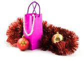 Christmas presents of gifts for woman — Stock Photo