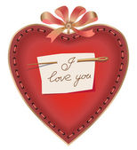Valentin`s Day card with heart. — Stock Vector