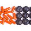 Stock Photo: Blueberries and Pharmaceuticals