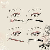Make-up — Stockvector
