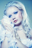 Winter princess — Stock Photo