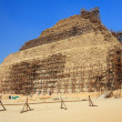 Stock Photo: Restoration of the pyramid of Djoser, Saqqara, Egypt