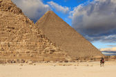 Pyramid of Khafre and the Pyramid of Cheops, Egypt — Stock Photo