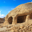 Stone cave home in Bab as-Siq, Petra, Jordan - Foto Stock