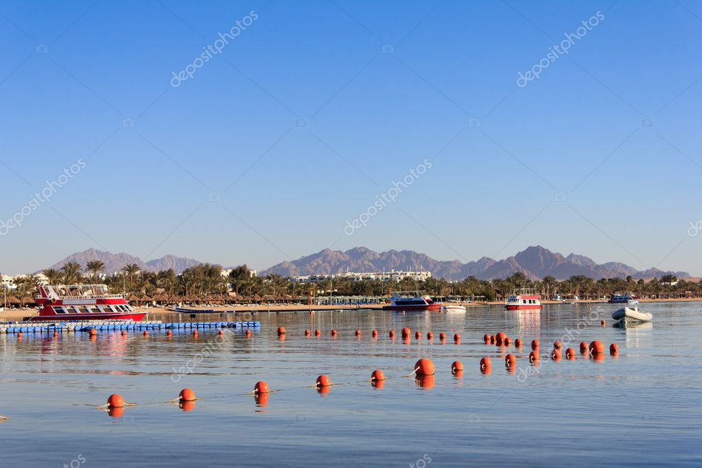 Naama Bay in Sharm El Sheikh, Egypt — Stock Photo #10314514