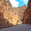 Stock Photo: The Siq - ancient canyon in Petra, Jordan