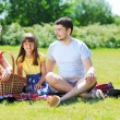 Stock Photo: Family on picnic