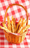 Cheese twists pastry — Stock Photo