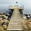 Stock Photo: Old wooden pier on the lake