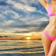 Woman with beautiful body at beach — Stock Photo #10533386