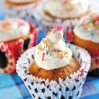 Royalty-Free Stock Photo: Cupcakes with whipped cream