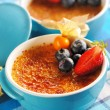 Creme brulee (cream brulee, burnt cream) — Stock Photo