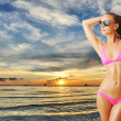 Woman with beautiful body at beach — Stock Photo #10613907