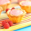Cake with raspberry yogurt dessert — 图库照片 #10655936