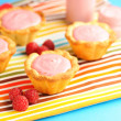 Cake with raspberry yogurt dessert — 图库照片 #10655940