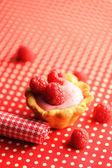 Torta con dessert yogurt lampone — Foto Stock
