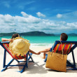 Couple on a beach — Stock Photo #9182952