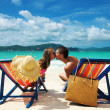 Couple on a beach — Stock Photo #9182958