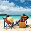 Couple on a beach — Stock Photo #9182967