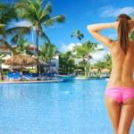 Girl at pool — Stock Photo #9183104