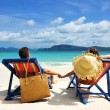 Couple on a beach — Stock Photo
