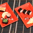 Sushi in plate — Stock Photo