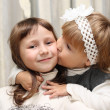 Kiss my sister — Stock Photo