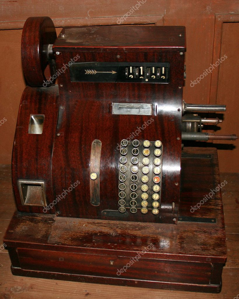 Old cash register — Stock Photo #8039402