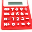 Stock Photo: Red calculator