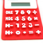 Red calculator — Stock Photo