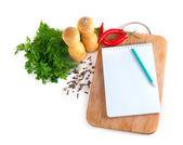 Caderno de receitas — Fotografia Stock