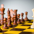 Chess concept with various pieces — Stock Photo #10069974