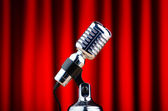 Vintage microphone against the background — Foto de Stock