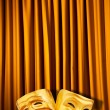 Theatre performance concept with masks — Stock Photo #10070269