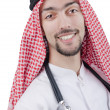 Young arab doctor with stethoscope - Stock Photo