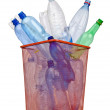 Plastic bottles in recycling concept — Stock Photo
