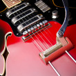 Close up of music guitar - 图库照片