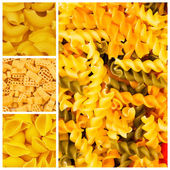 Set of various pasta backgrounds — Stock Photo