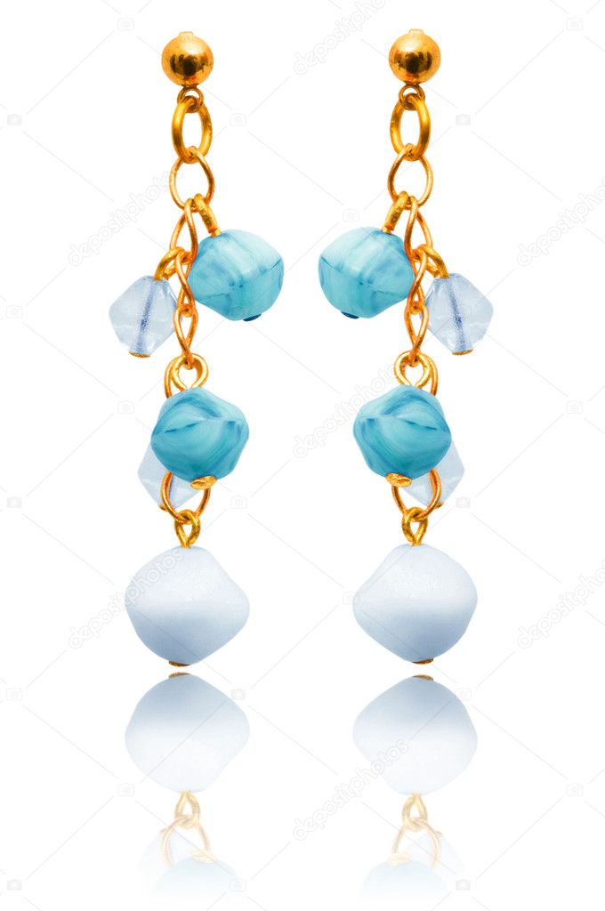 Jewellery and fashion concept with earrings — Stock Photo #10071496